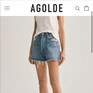 AGOLDE | Dee Super High Rise Shorts